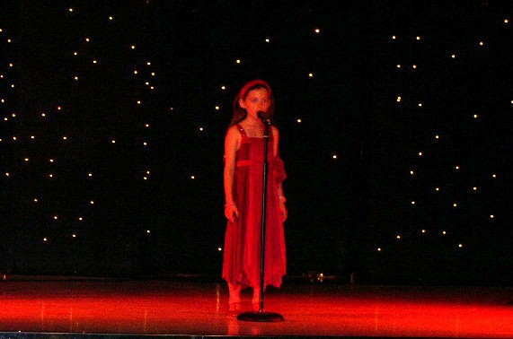 Tamara performs My Heart will go On