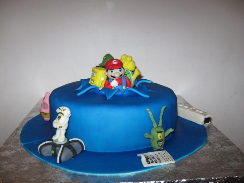 Cake 13A1 -A Boy's World - Heroes & Villians  Cake
