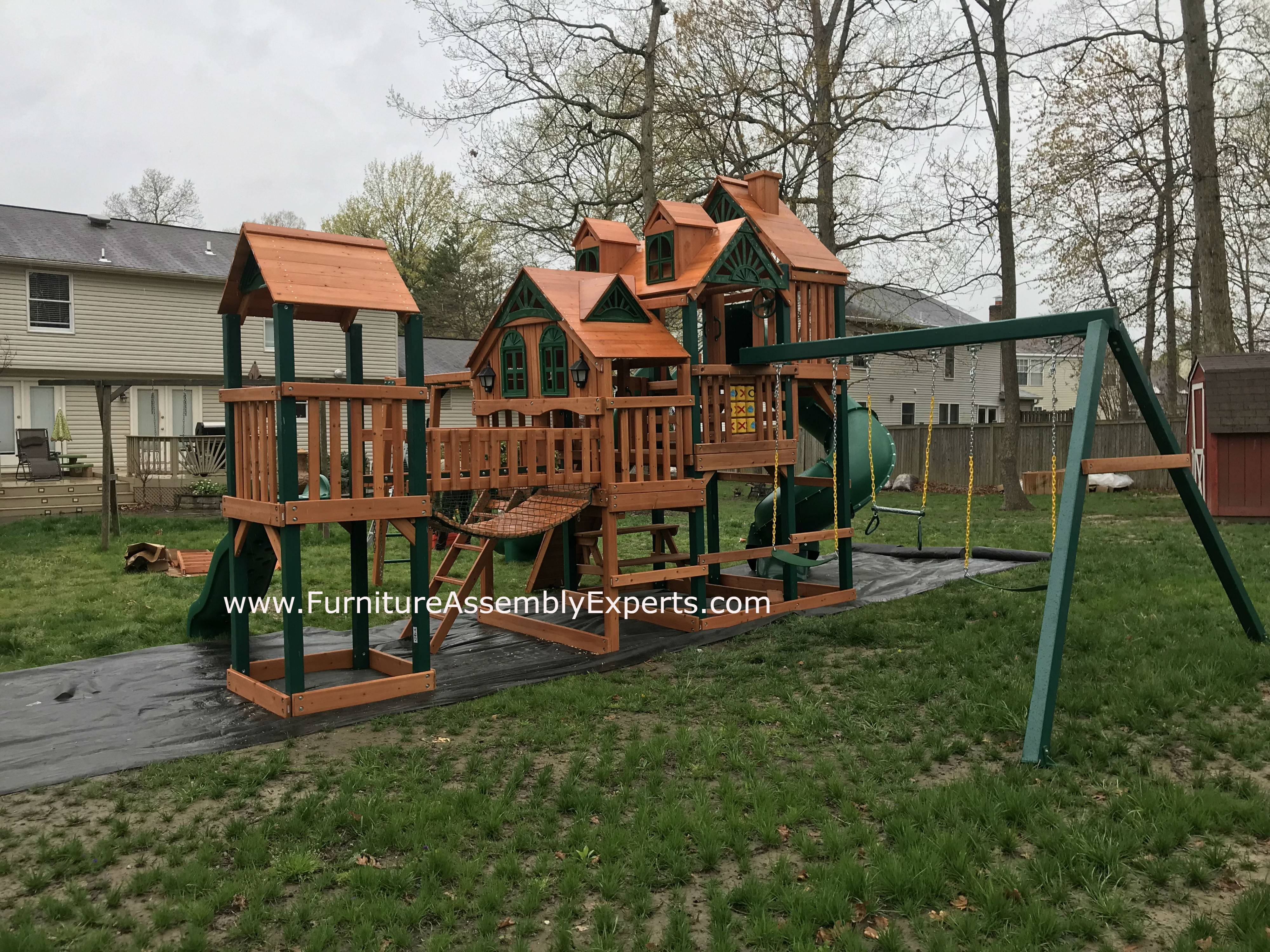gorilla empire extreme playset installation in Maryland