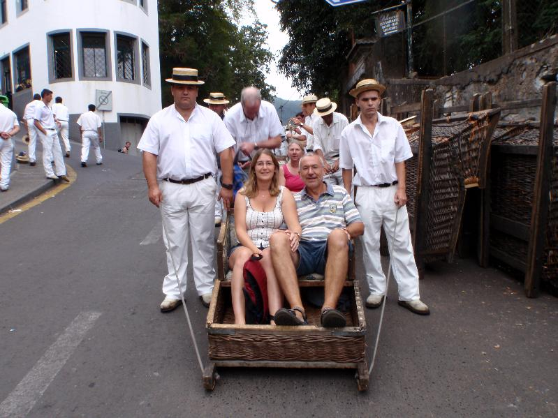 The sledge ride in Funchal