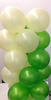 White & Green Balloon Column
