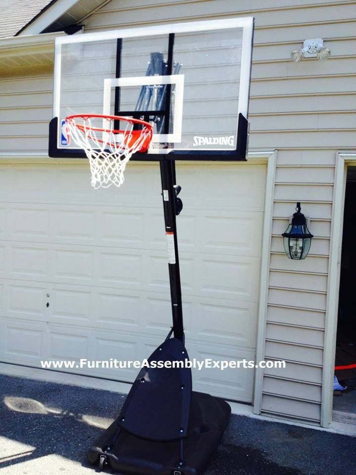 amazon portable basketball hoop assembly service in bethesda MD