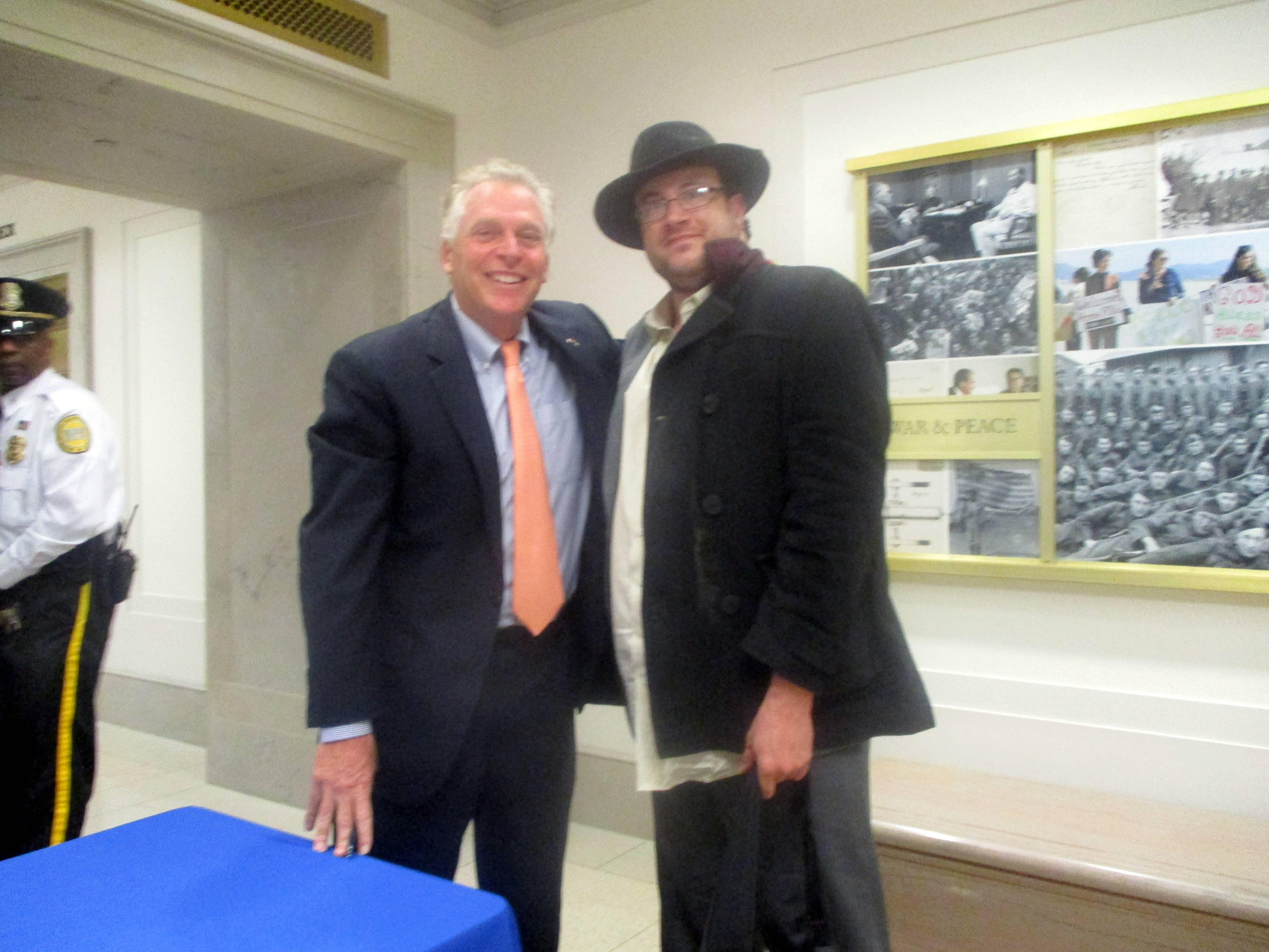 Terry McAuliffe with Alec Frazier at Beyond Charlottesville at National Archives and Records Administration