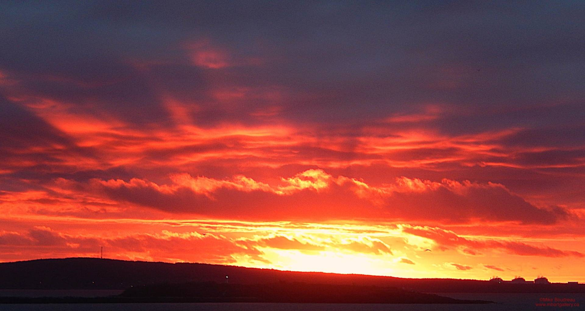 Early Sunrise over Partridge Island, Saint John NB