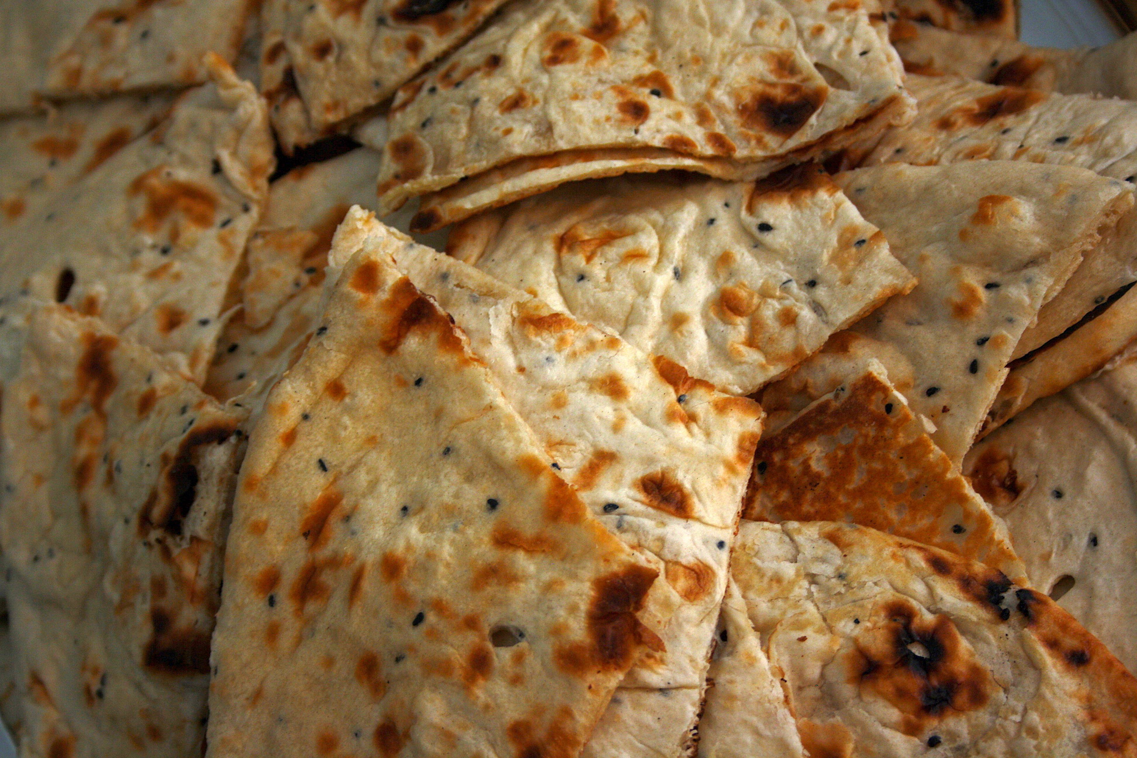 Naan bread Indian buffet
