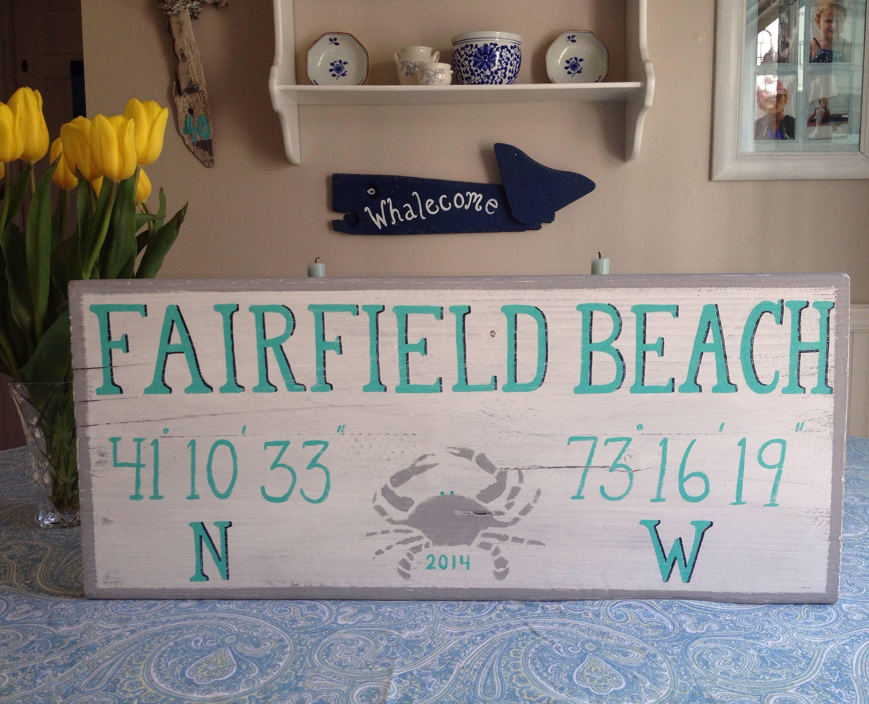 Fairfield Beach sign