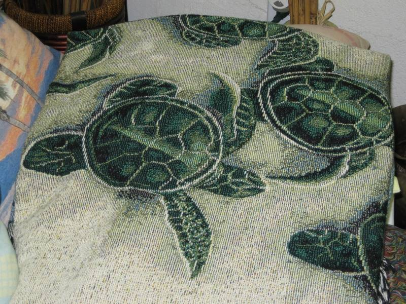 Manuel Woodworkers and Weavers of North Carolina Turtle Afgan throw