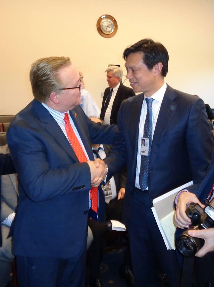 US Deputy Assistant Secretary Hoyt Yee and Mustafa Xhepa