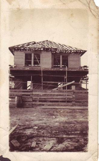 Katy and Fletcher Manning Home Under Construction 1934