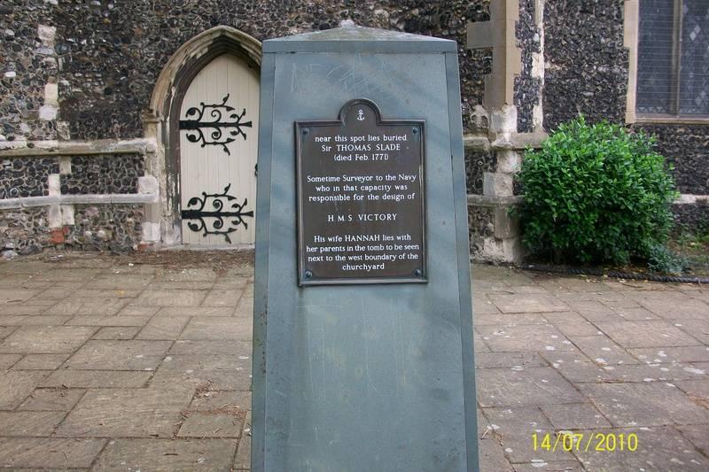 Sir Thomas Slade Memorial, St. Clement's Churchyard