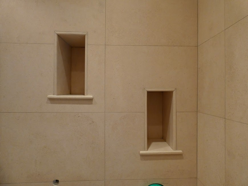 Natural stone double niches