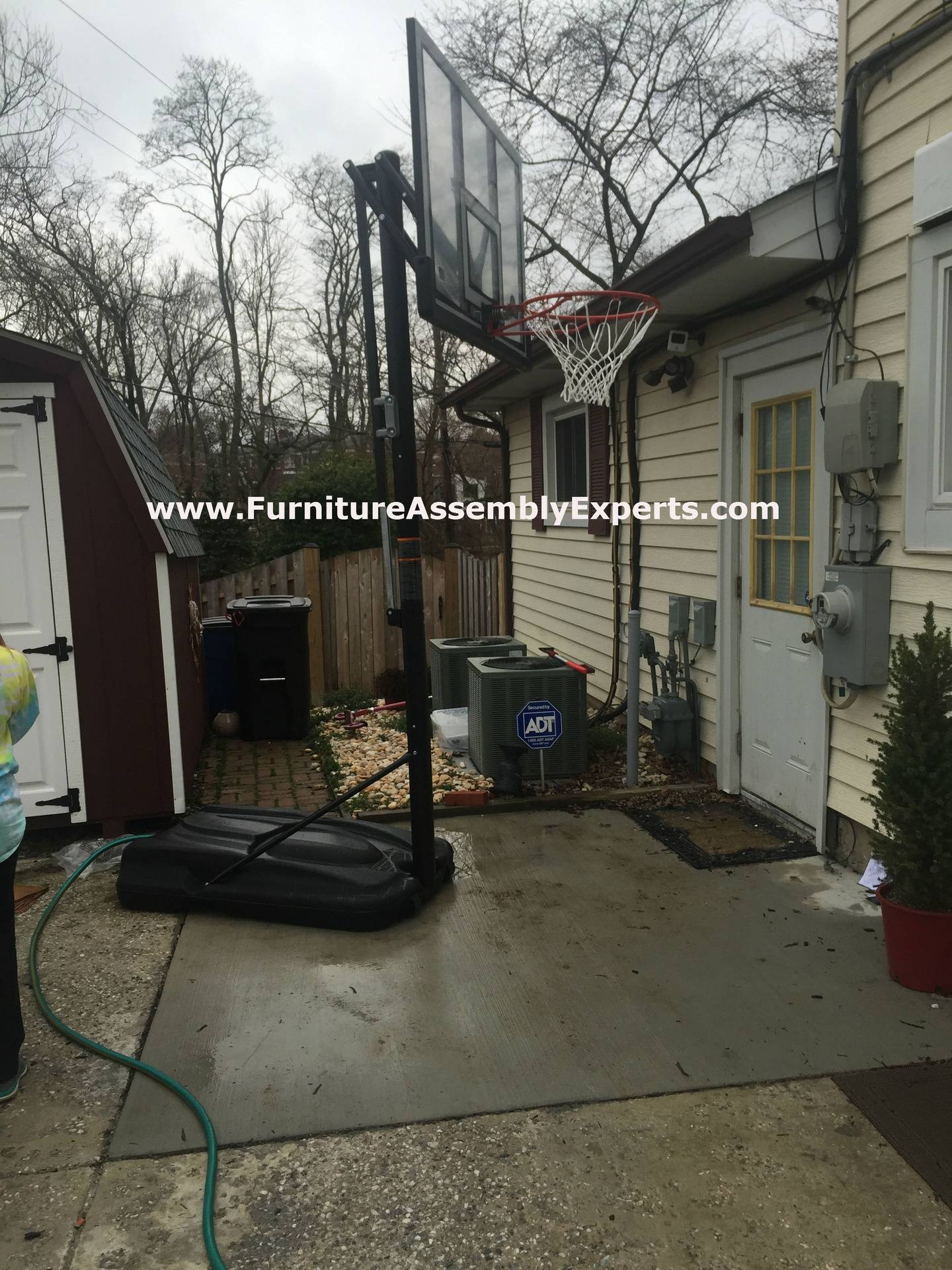 amazon portable basketball hoop assembly service in waldorf MD