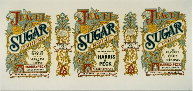 Sugar tin label (Nostalgia Series)