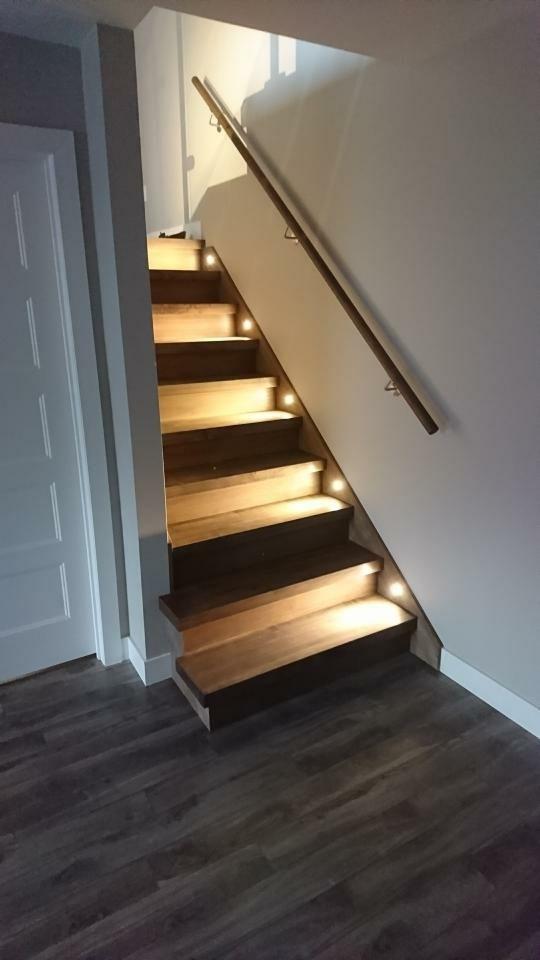 Escalier avec éclairage