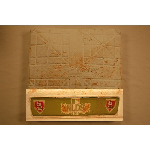 NLDS Game-Used 3rd Base from Games 3 and 4 (10/4 & 10/5/11) The Play Game Used Third Base October 5, 2011