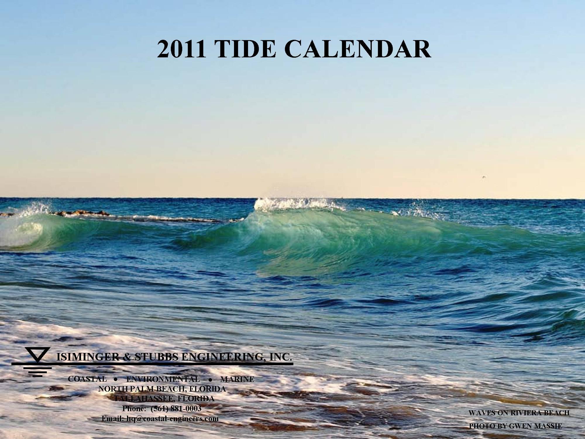 2011 Tide Calendar Cover