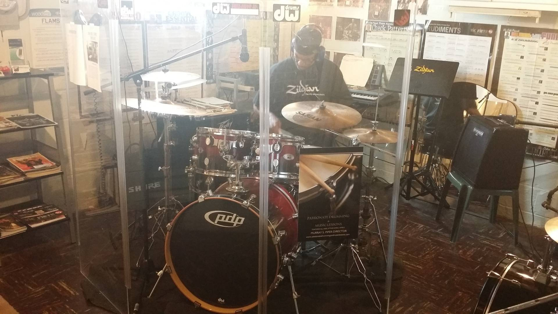 John Swanson Grooving In Studio