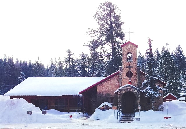 Sacred Heart in the Snow