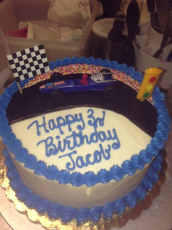 Race Car Theme Cake