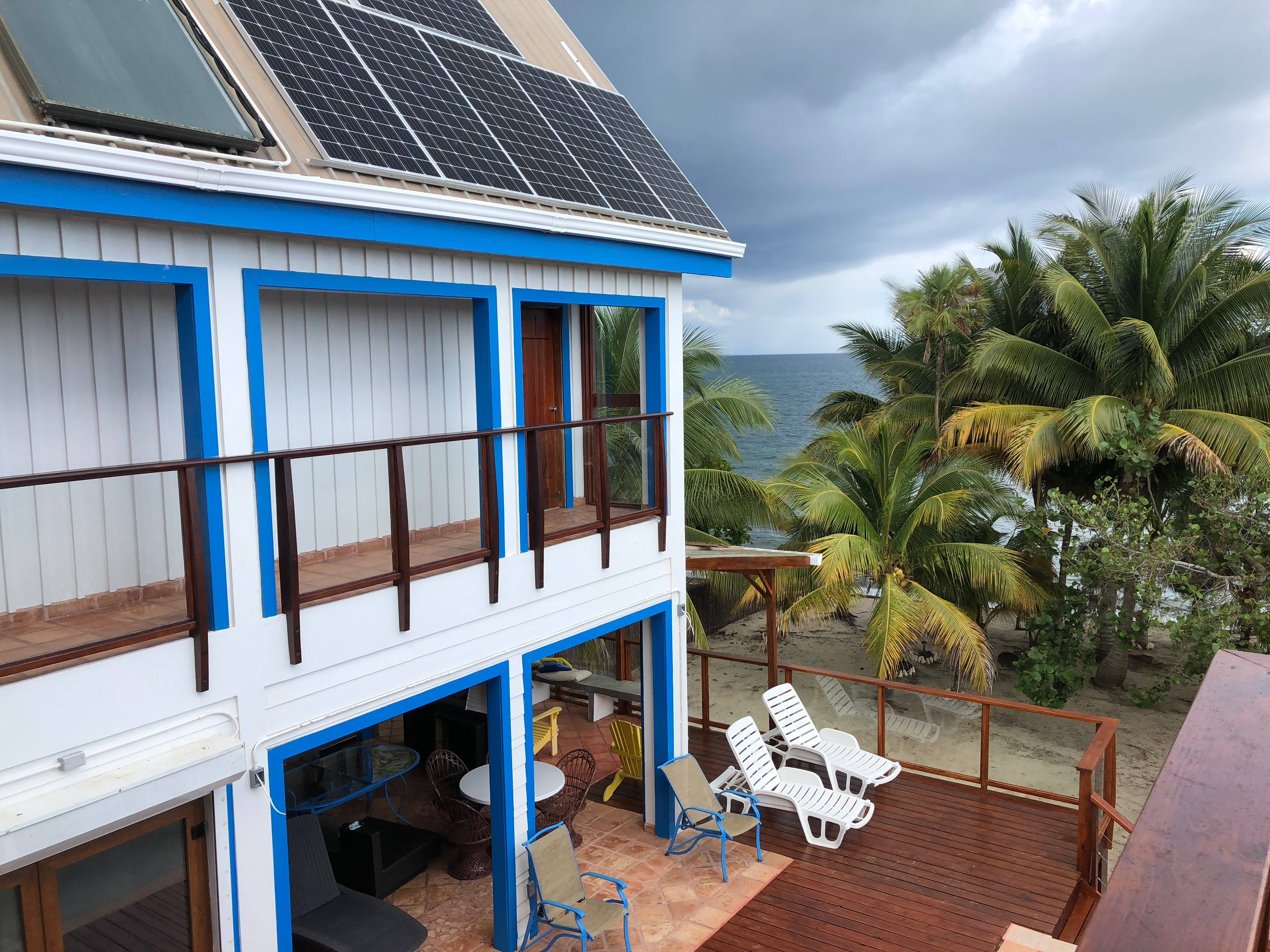 view of the deck from upstairs