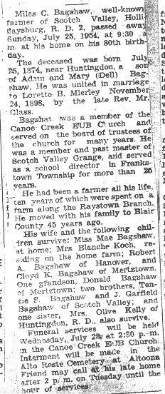 Bagshaw, Miles C. 1954