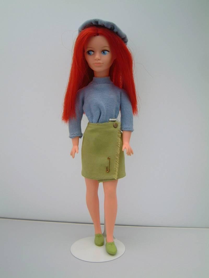 Mitzi with red hair
