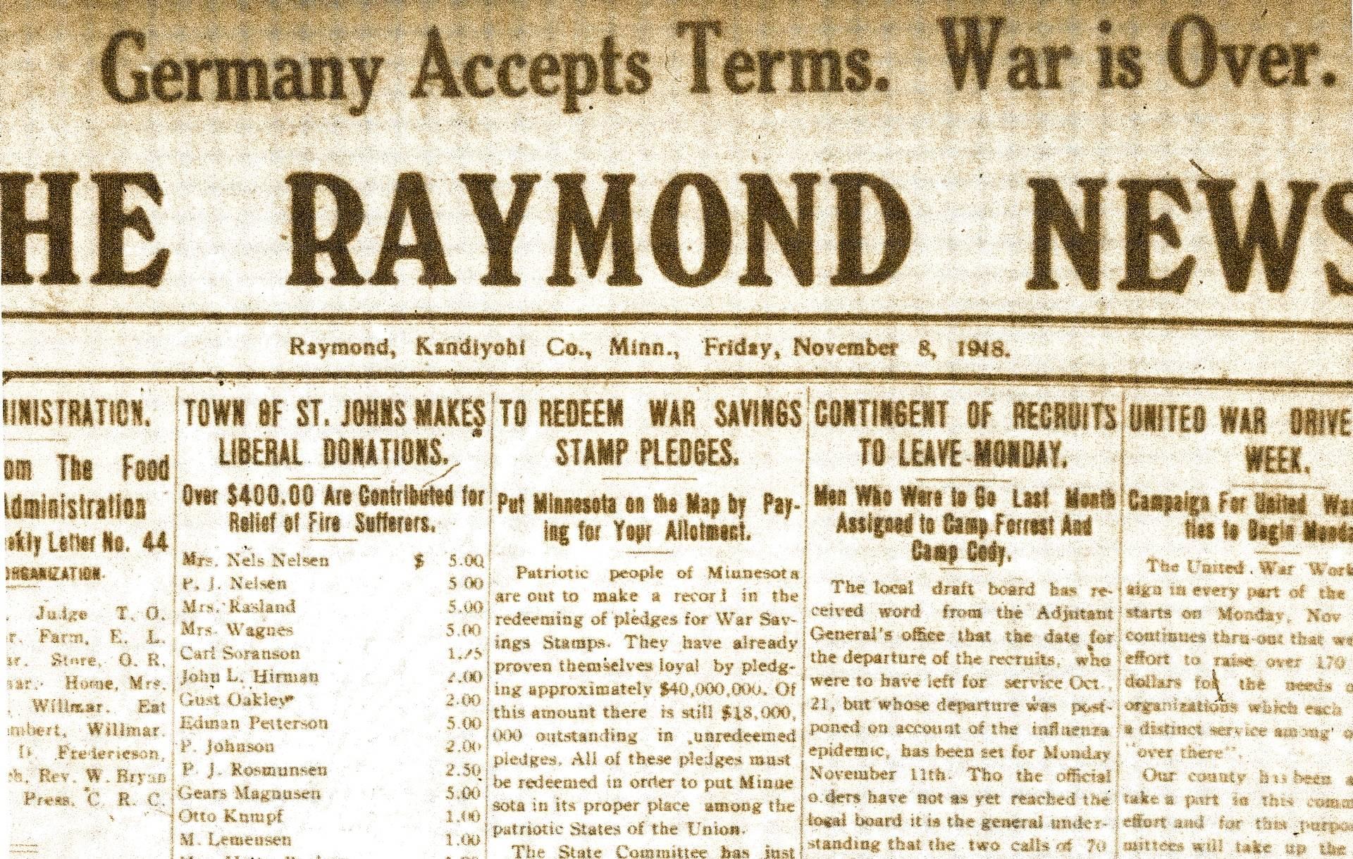 8 November 1918 Raymond News