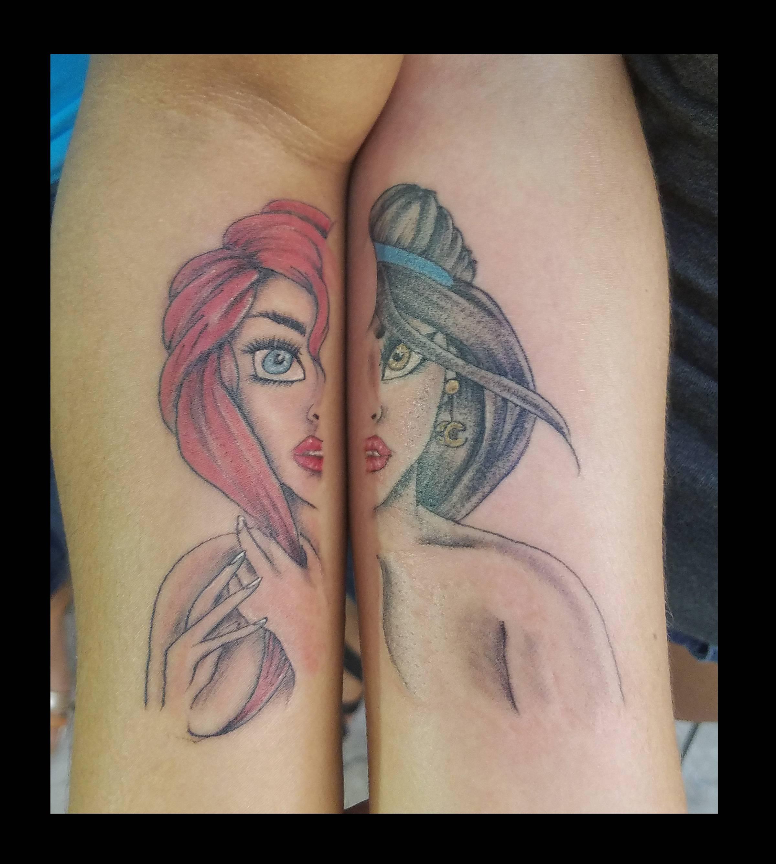 Disney Princesses tattoo by Ruben