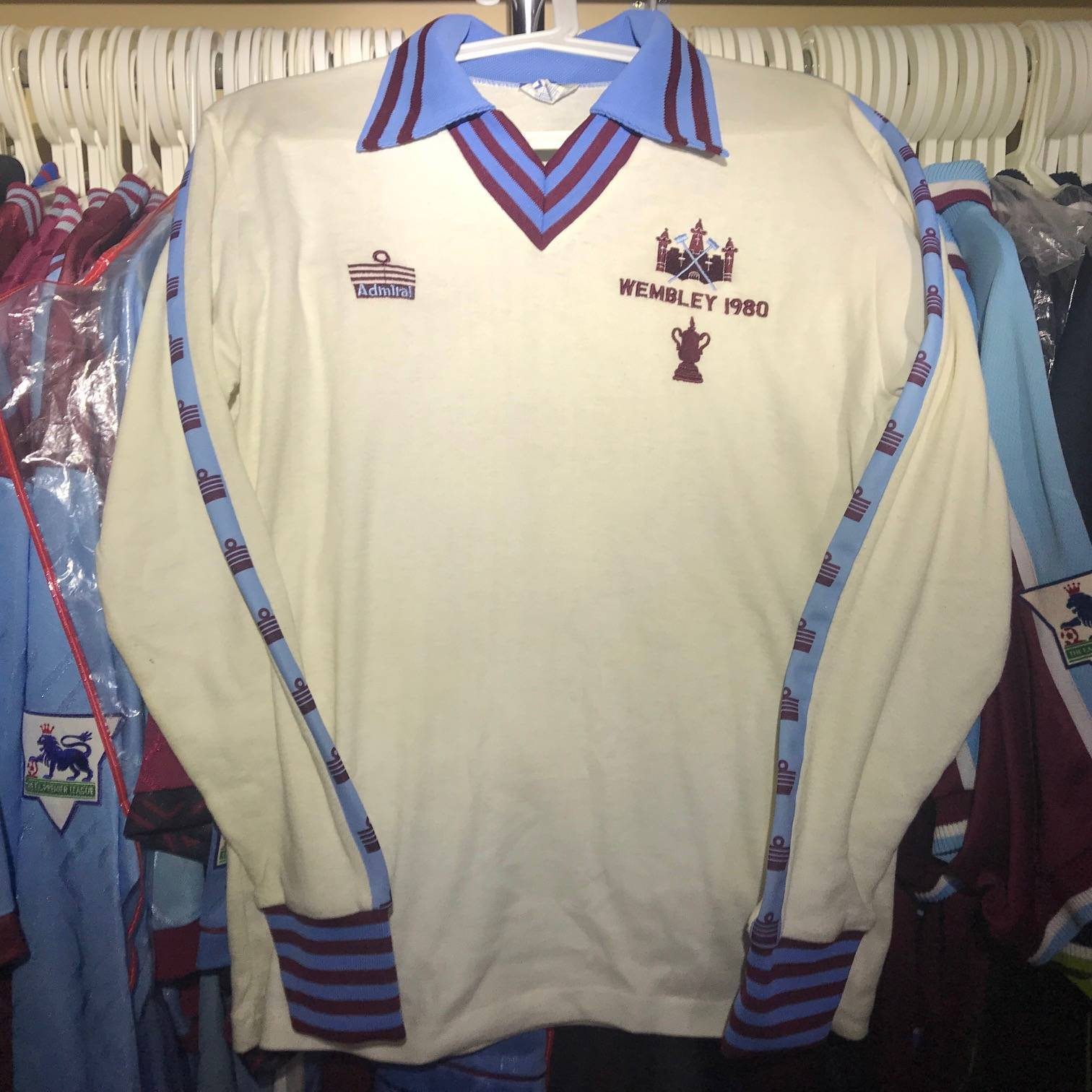 Alan Devonshire spare long sleeve 1980 FA Cup Final shirt.