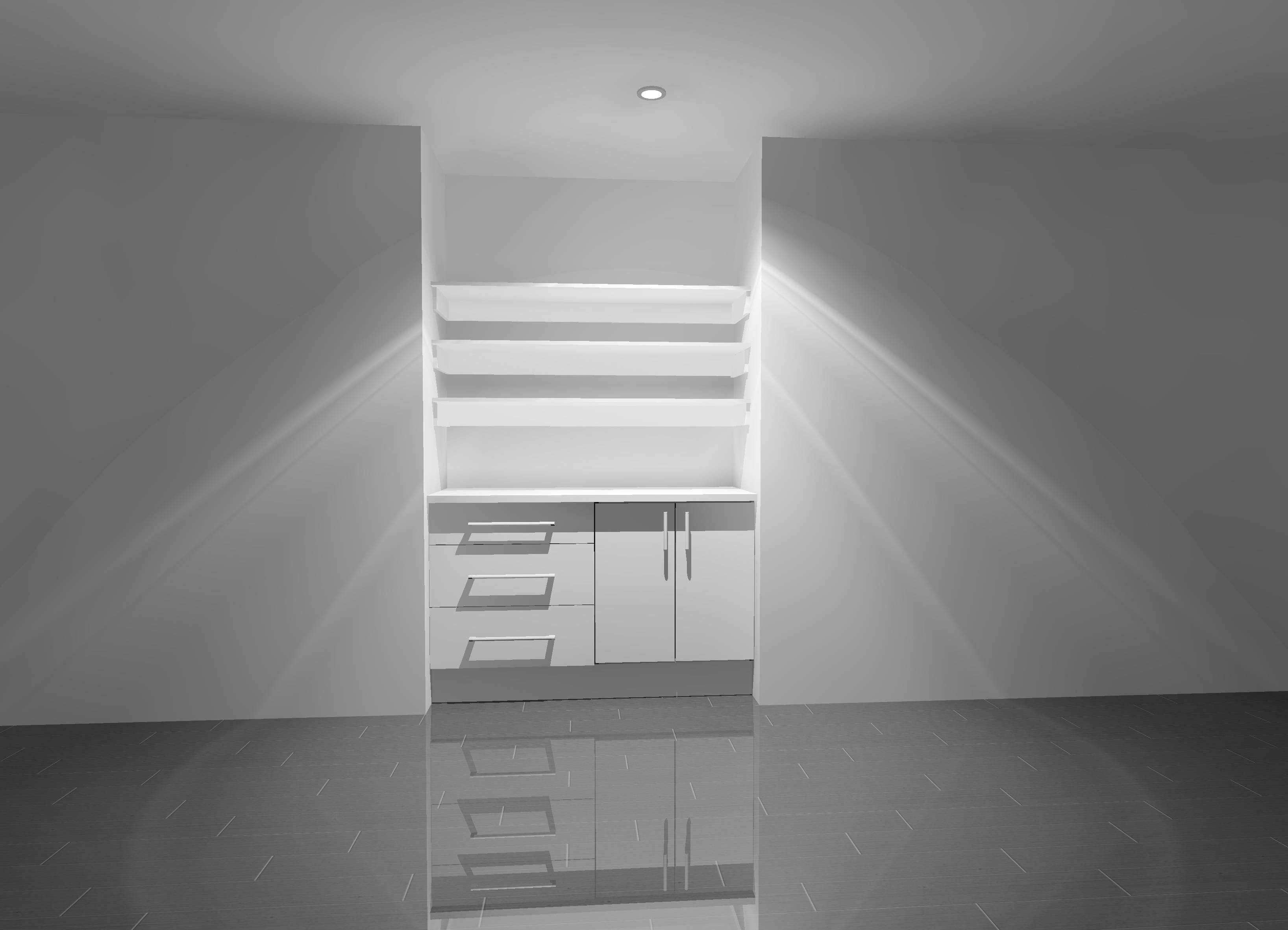 3D Image for wardrobe and study