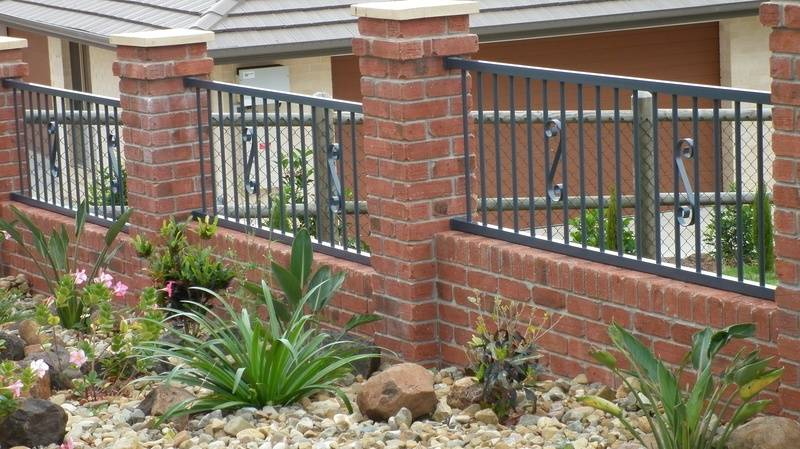 Fence Panels with Scrolls