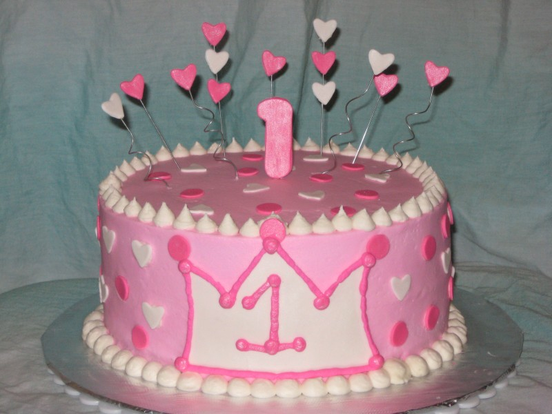 Lil Princess First Birthday Cake