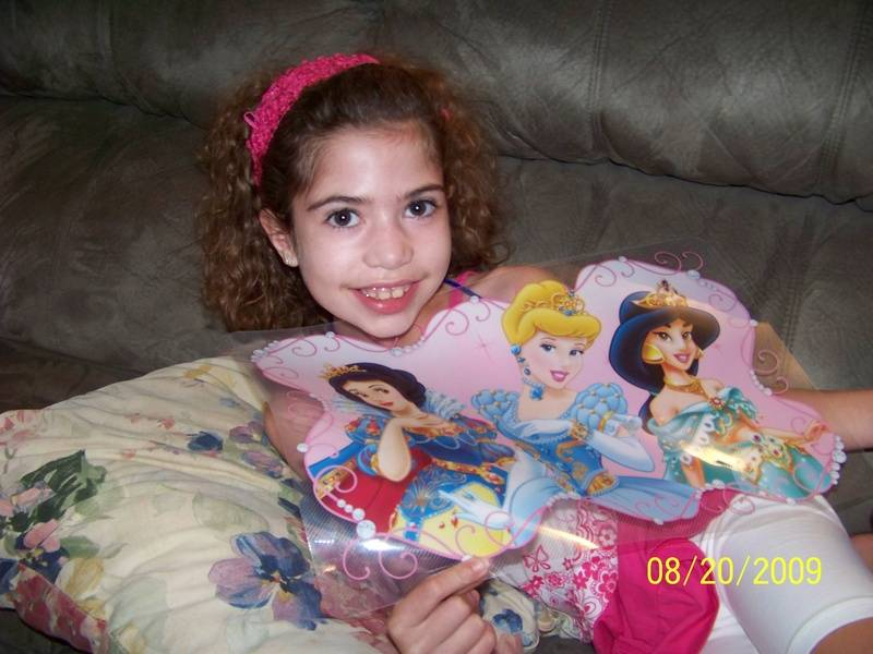 My princess placemat!  Thanks Judy!