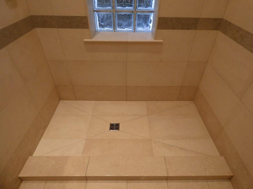 Raw edge limestone tile
