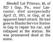 Pittman, Mendell Lot - Part 1 - 1971