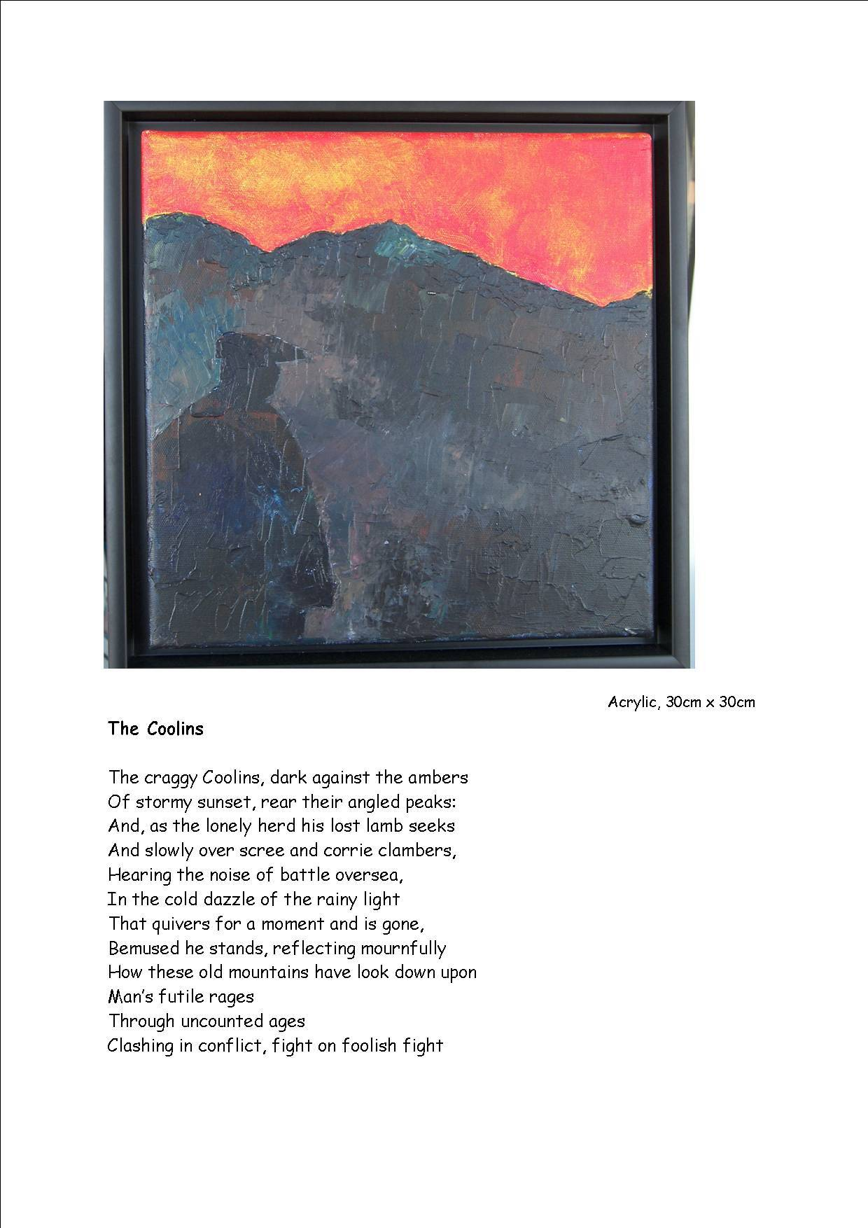 The Coolins - poem and picture