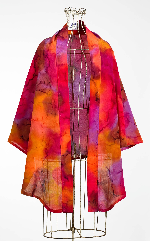 Silk wrap in warm tones