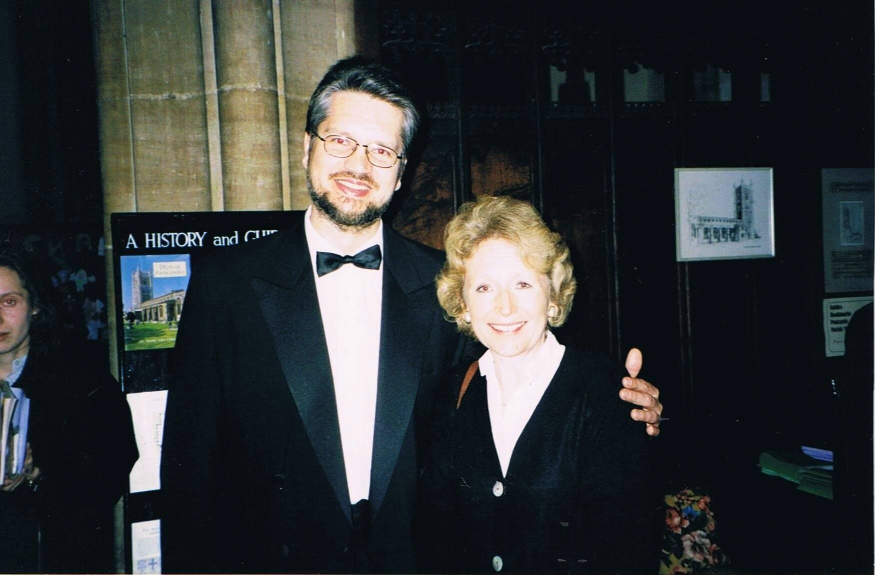 With Jenni Wake-Walker, Dedham, Suffolk, UK, 1998