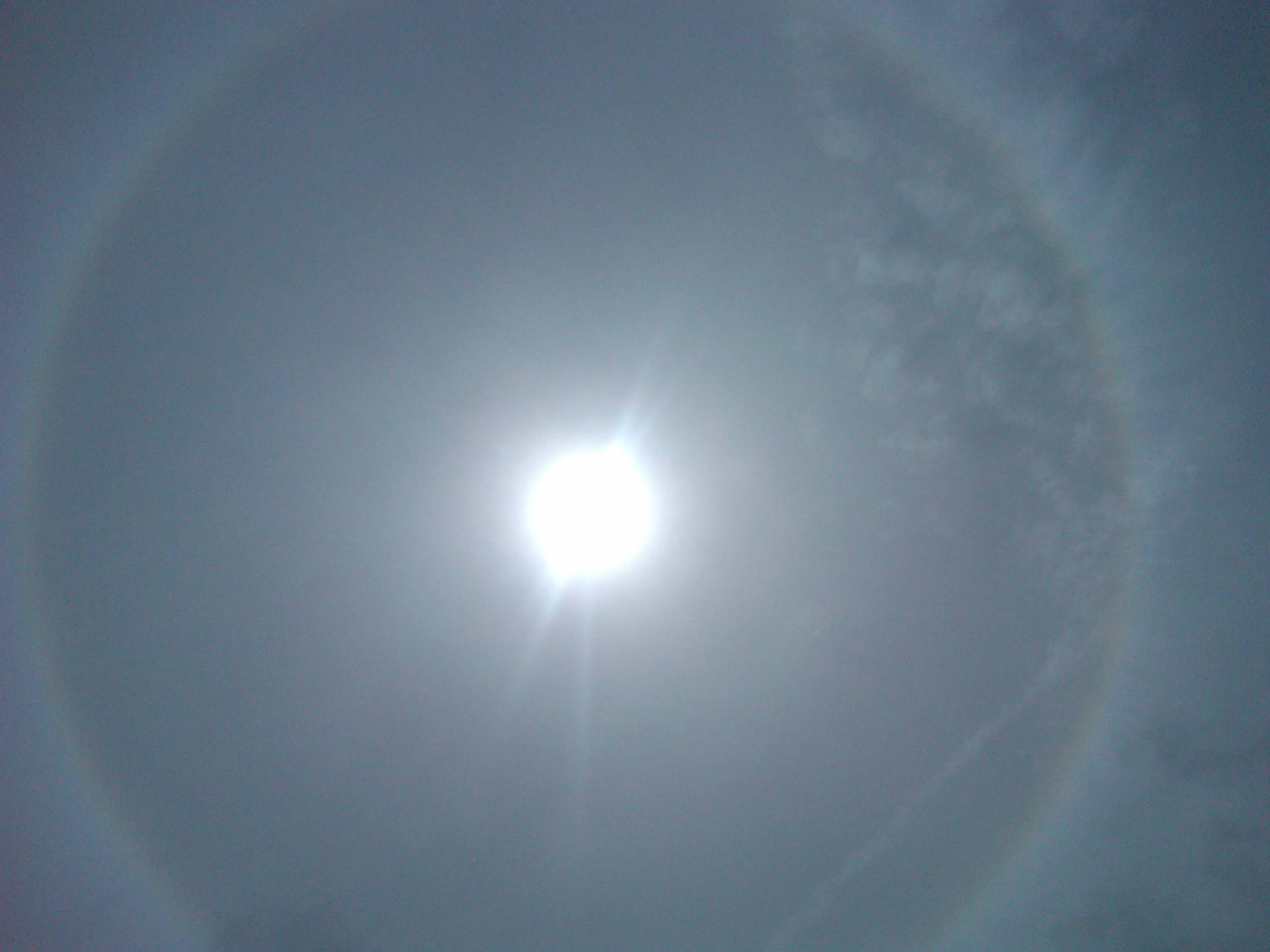 Halo effect in Curacao, April 2011