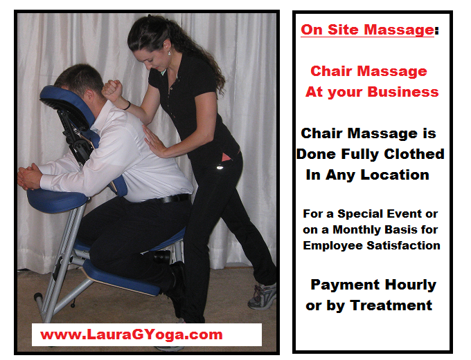 On Site Massage - Corporate Chair Massage
