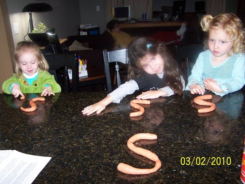 "Homemade Playdough and the letter ""S"""