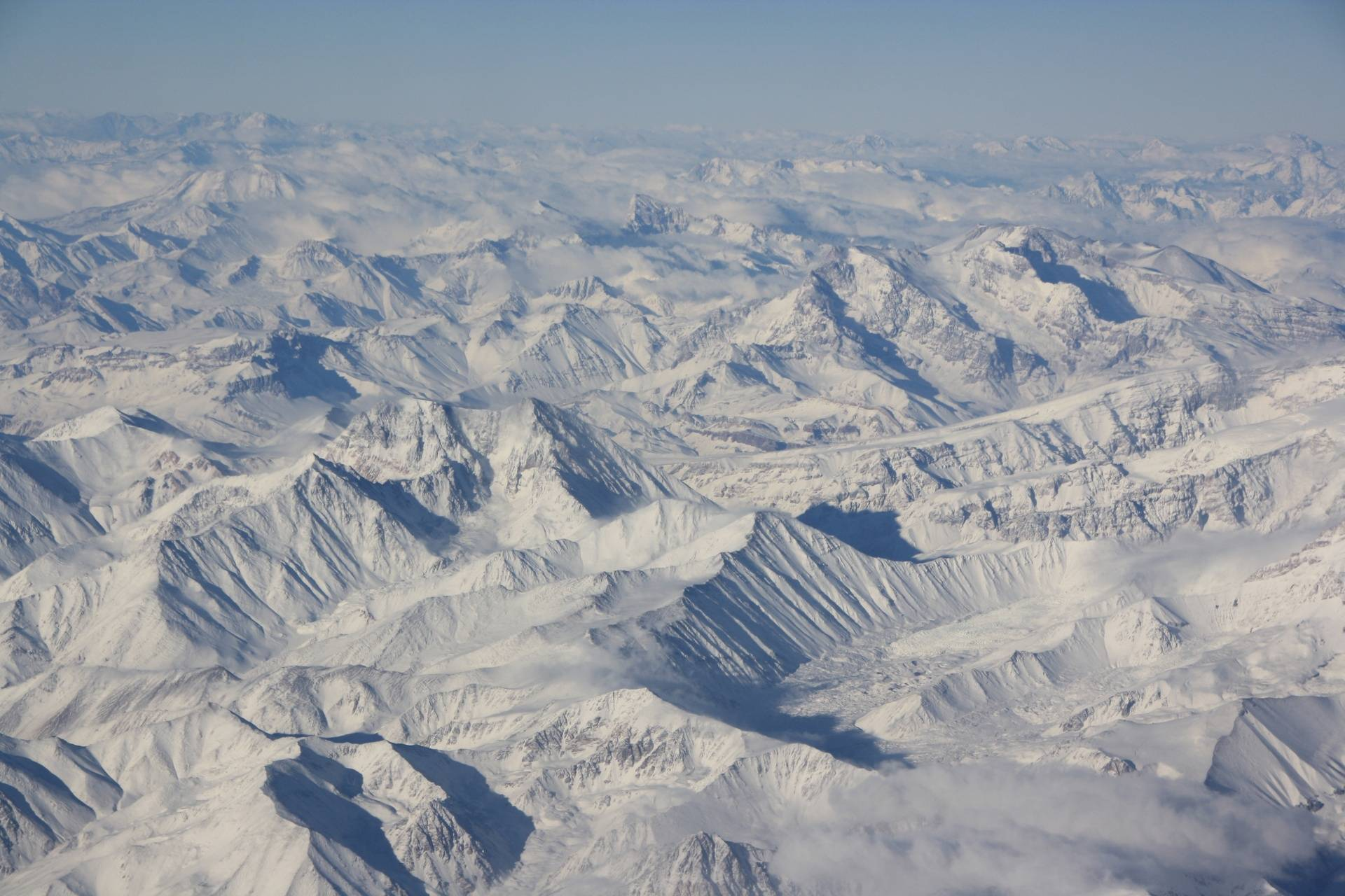 Andes Mountains from plane