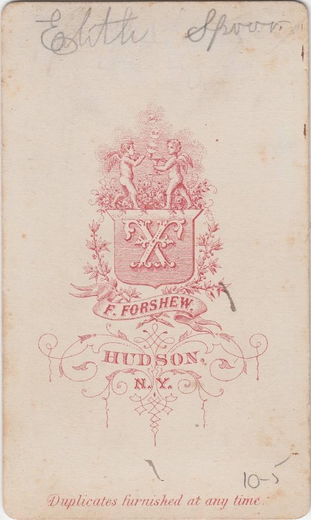 F. Forshew, photographer of Hudson, NY