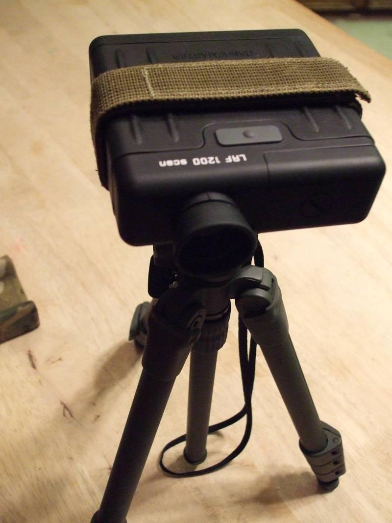OD LRF Adapter on a medium tripod