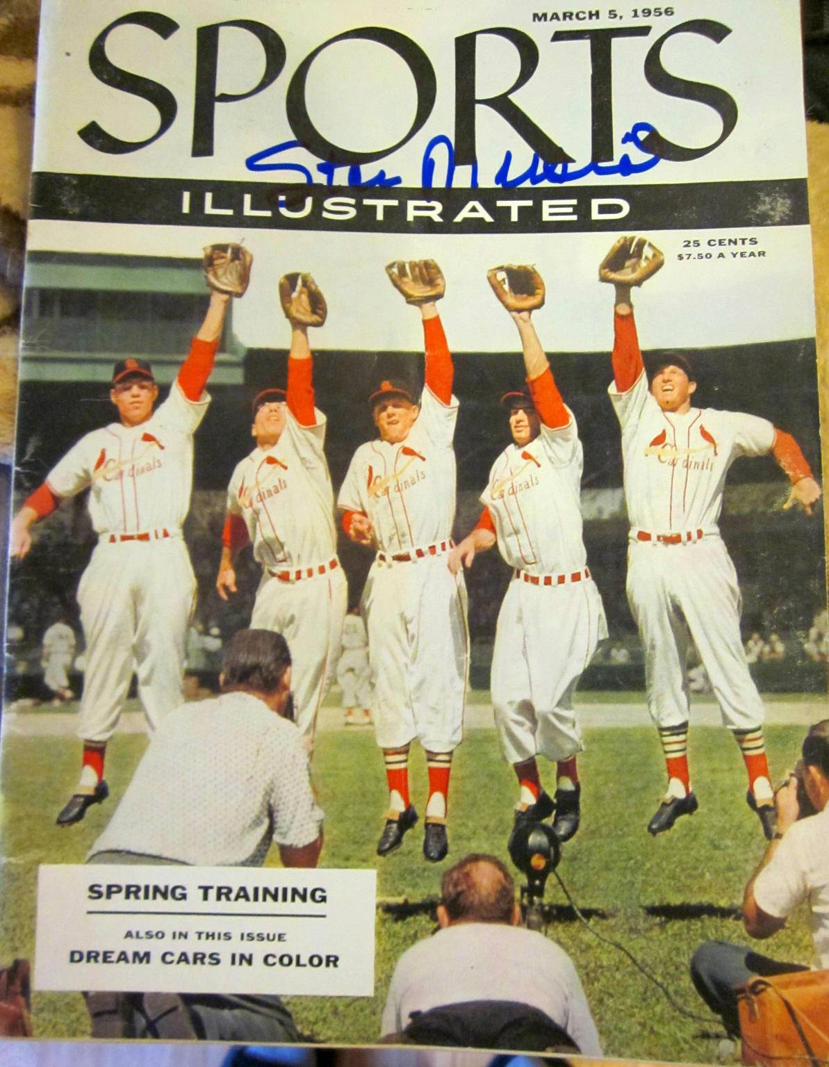 STAN MUSIAL SIGNED ORIGINAL MARCH 5, 1956 SPORTS ILLUSTRATED IP PHOTO PROOF