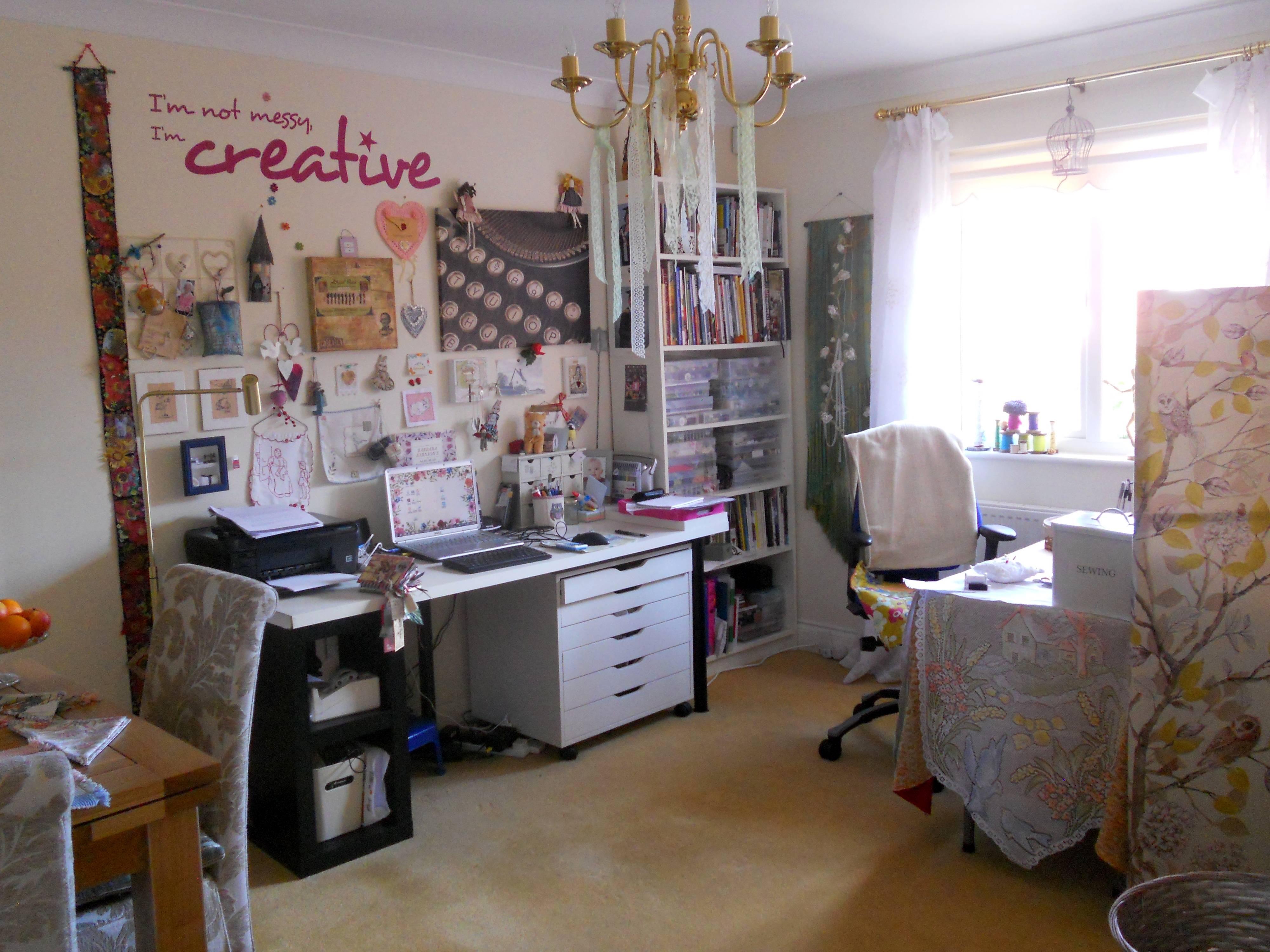 a corner of my workroom