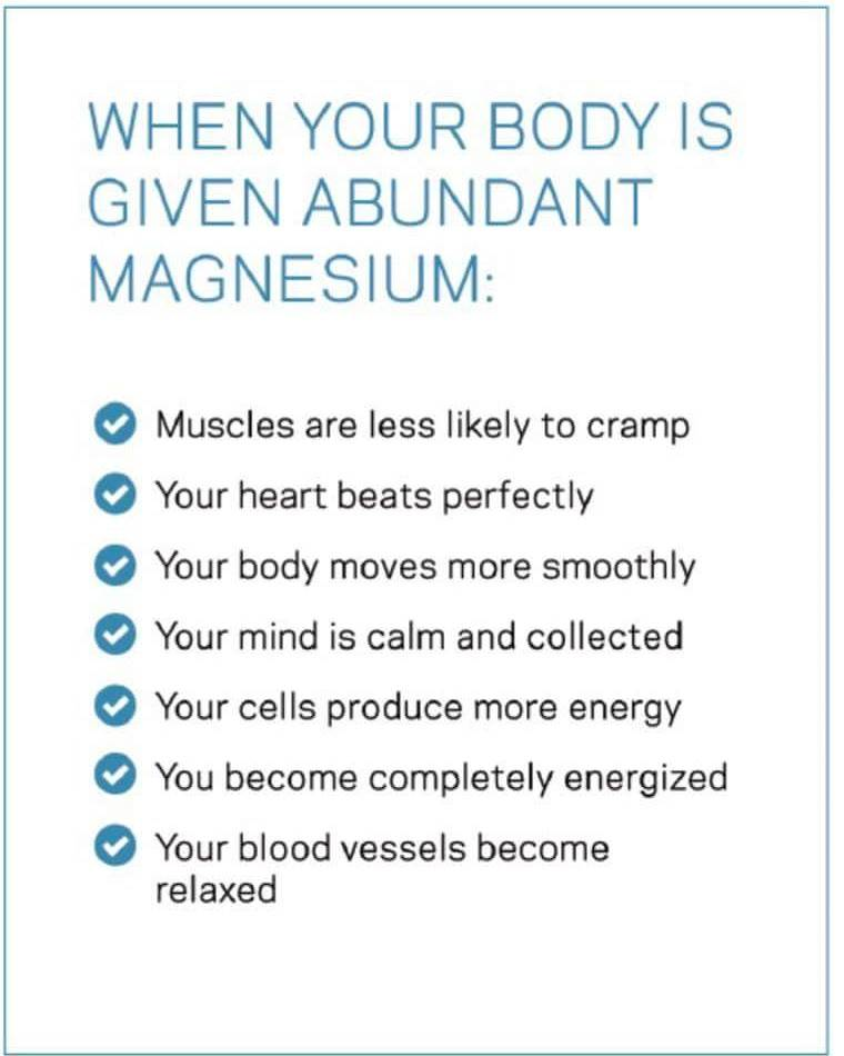Magnesium benefits are Amazing!