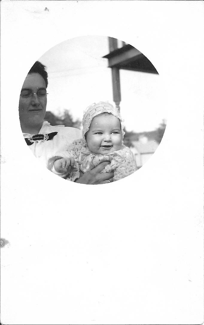 Ella Waldron and her son, Walter