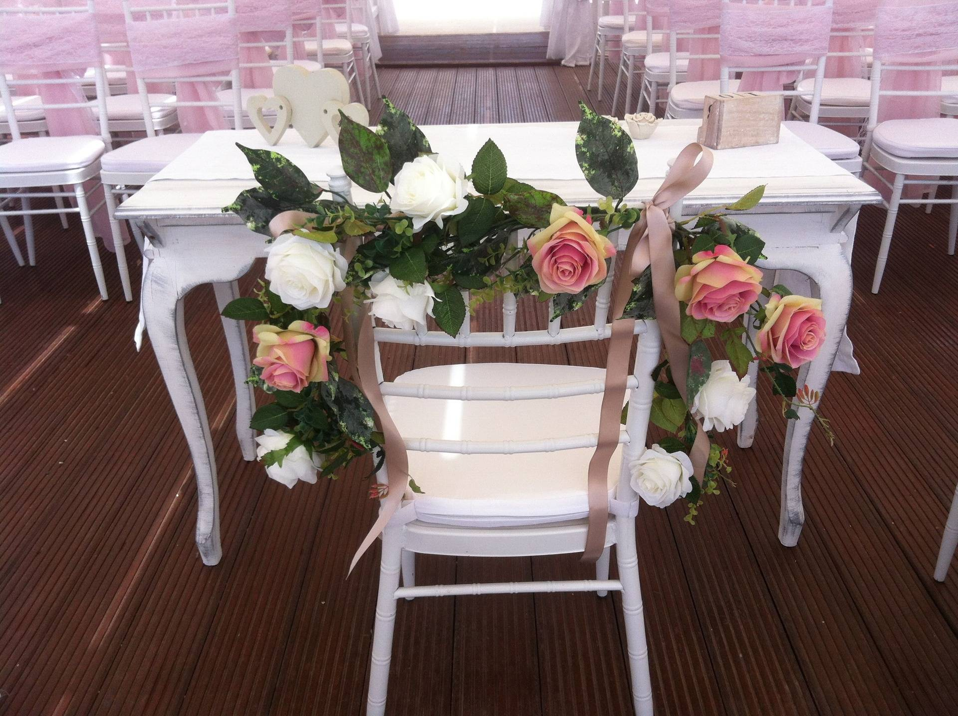 Rose garland for Bride and Groom.
