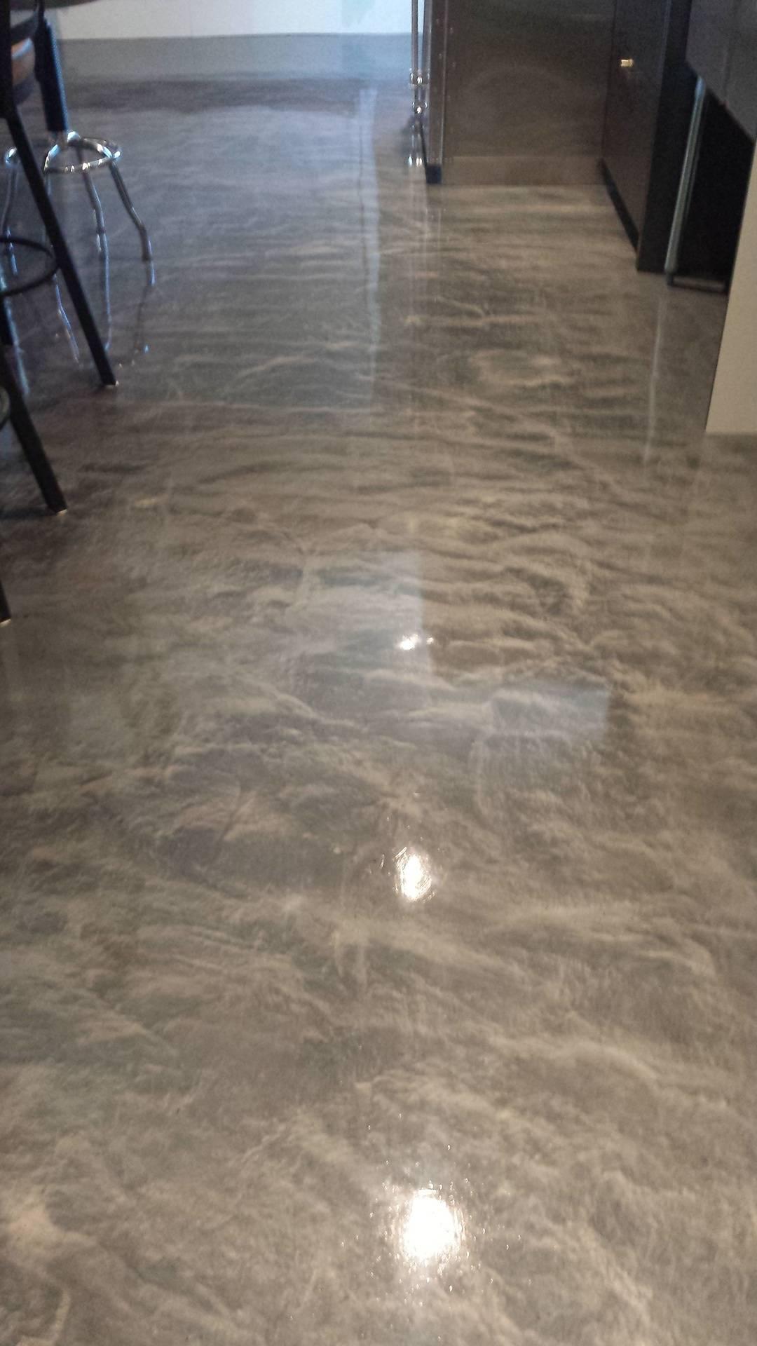 3D Metallic Floor Coating